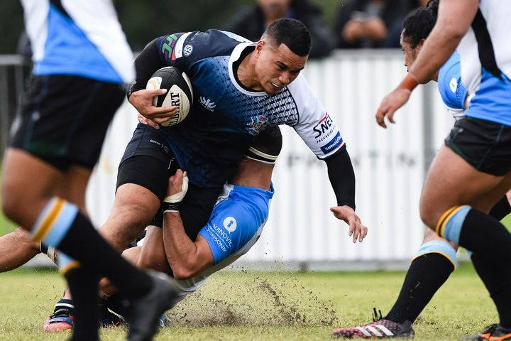 Tonga sevens captain Tana Fotofili playing club rugby in Auckland.