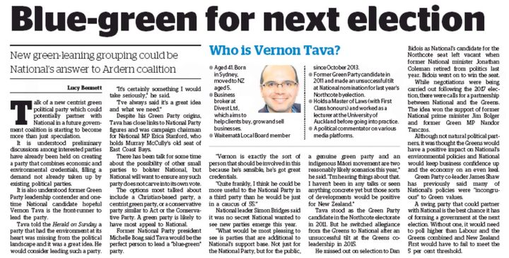 The Herald on Sunday seems certain the new party is a goer for 2020.