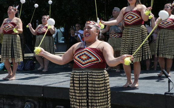 The pop-up poi performance, led by New Zealand's oldest kapa haka group Ngāti Poneke, is one of many events to mark the up coming Te Matatini festival.
