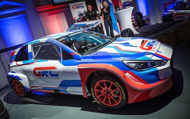 The car Hayden Paddon will be driving in the new Global Rallycross Europe series.