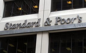NEW YORK, NY - AUGUST 10: Standard and Poor's headquarters are seen in Manhattan on August 10, 2011 in New York City. Worldwide markets remain turbulent days after Standard and Poor's downgraded the debt rating of the United States.  Mario Tama/Getty Images/AFP