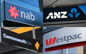 National Bank of Australia, ANZ, Commonwealth Bank, Westpac.
