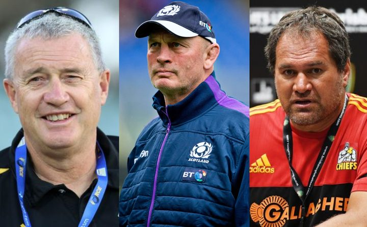 Former Hurricanes coach Chris Boyd, former Scotland coach Vern Cotter and former Chiefs coach Dave Rennie