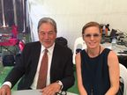 Winston Peters and Mihingarangi Forbes