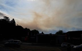 The view from the front of Nelson Fire Station looking N/NW.