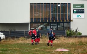 Crew change this morning at Nelson Tasman Civil Defence Emergency Management Centre in Richmond.