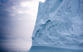 Iceberg floating in Arctic Ocean at Greenland