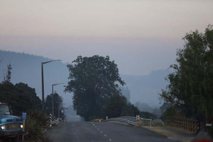 Wakefield was covered in a thick haze this morning.
