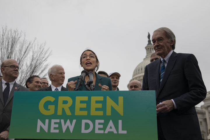 Alexandria Ocasio-Cortez highlights offshore drilling rig on congressional website