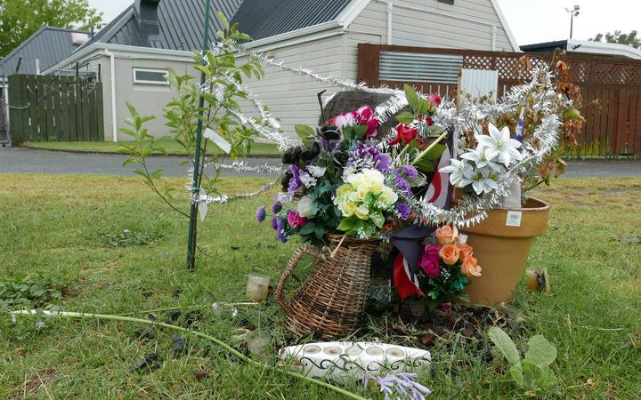 The Flaxmere community came together to create a memorial for Kelly Donner at the scene of his murder behind the local tavern.