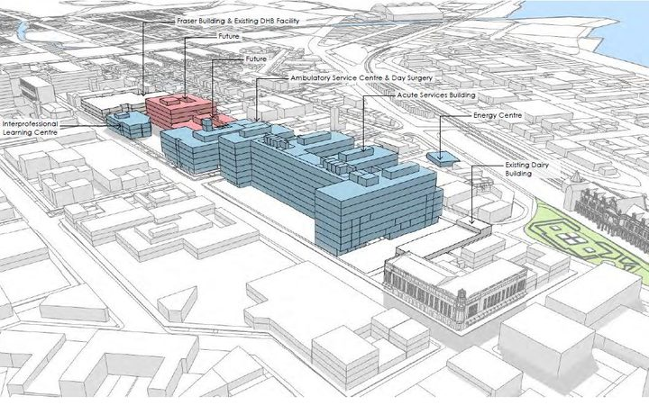 Part of the plans for the new Dunedin Hospital.