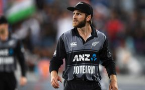 New Zealand Black Caps captain Kane Williamson at the end of the match.