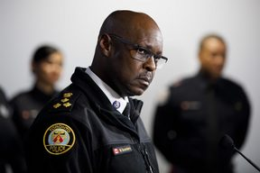 Toronto Police chief Mark Saunders addresses the media  after the sentencing of Toronto serial killer Bruce McArthur.