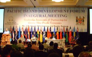 The Inaugural Pacific Islands development Forum, 2013