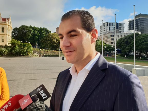 Jami-Lee Ross arrives at Parliament for the first session of 2019. 12 February 2019.