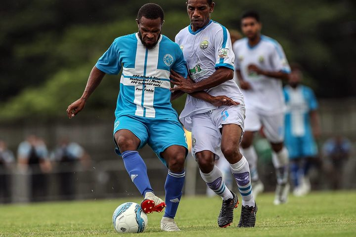 Vanuatu's Malampa Revivors (L) were outclassed by Hienghène Sport in their opening match.