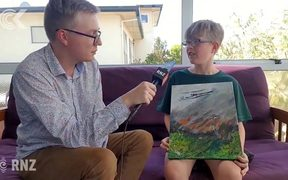 11 yr old boy's Tasman fire painting attracts global attention