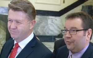 Labour leader David Cunliffe and senior MP Grant Robertson.