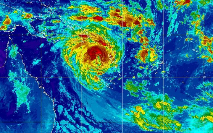 Cyclone Oma, to the west of Vanuatu's Santo