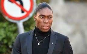 South African 800 meters Olympic champion Caster Semenya arrives for a landmark hearing at the Court of Arbitration (CAS) in Lausanne. 19.2.19