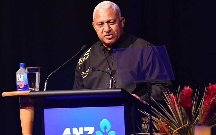 PM Frank Banimarama addresses the Fiji Tourism Awards