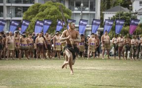 The powhiri to mark the start of the Te Matatini kapa haka festival in Wellington.