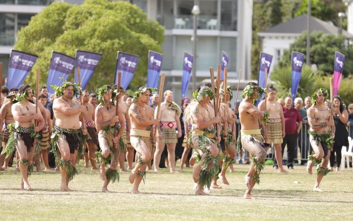 he powhiri to mark the start of the Te Matatini kapa haka festival in Wellington.