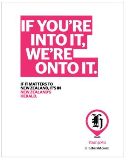 One of the Herald's new ads.