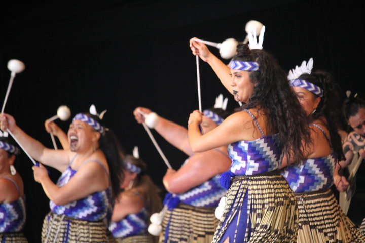 Te Iti Kahurangi based their poi on the kereru at this years Te Matatini in Wellington.