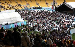 The crowds at Te Matatini festival.