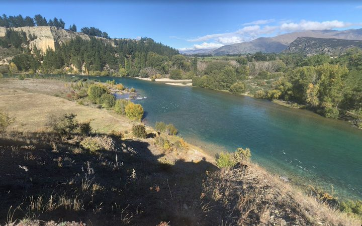 Clutha river near where the crash happened.