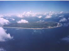 An aerial view of Nauru