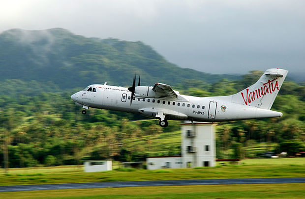 An Air Vanuatu plane taking off