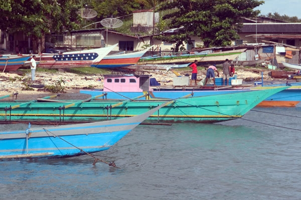 Fishing boats on Biak, West Papua