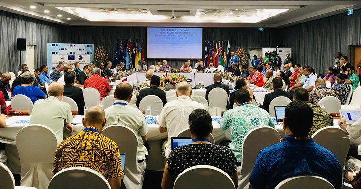 EU officials meet with Pacific Islands leaders in the Africa, the Caribbean and the Pacific group, Apia, 26 February 2019