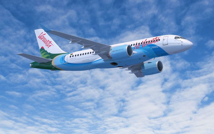 Air Vanuatu's new Airbus A220-100