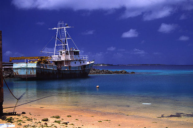 A ship anchored in the Marshall Islands, boat, fishing, sea, Majuro