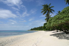 A tropical beach in the Marshall Islands