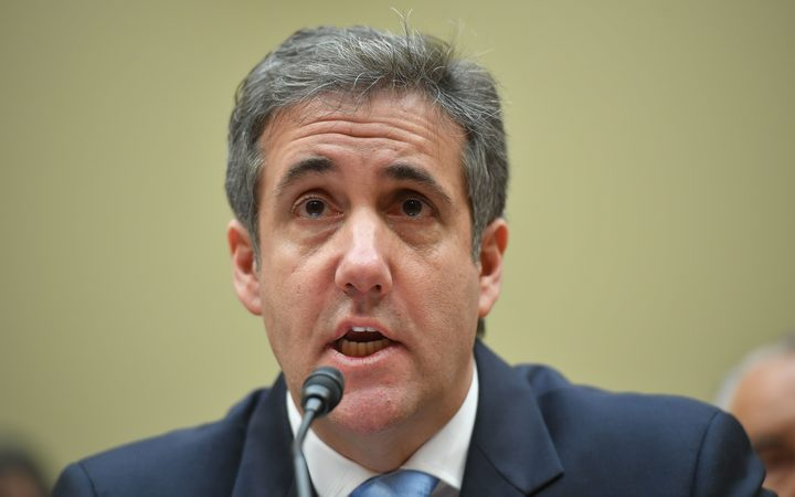 Michael Cohen, US President Donald Trump's former personal attorney, testifies before the House Oversight and Reform Committee.