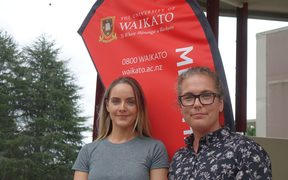 Kelly Redman and Kellee Hodge from Waikato University.