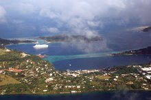 An aerial view of Vanuatu's capital, Port Vila