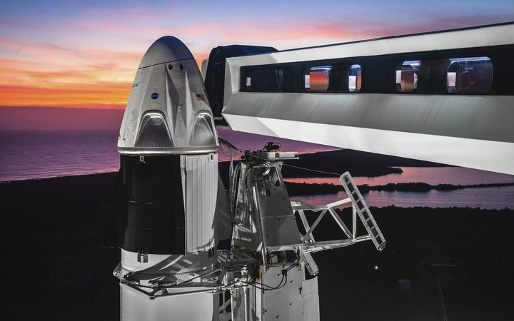 Humans enter SpaceX Crew Dragon in space for the first time