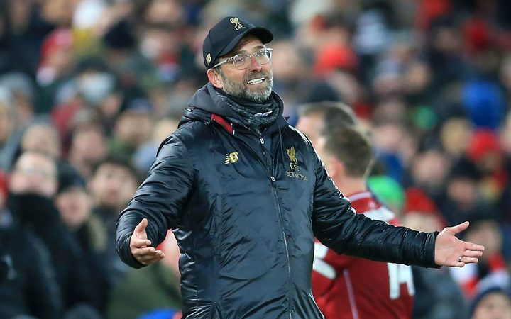 Liverpool manager Jurgen Klopp cuts a frustrated figure on the touchline.