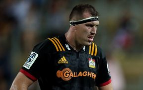 Brodie Retallick looking glum playing for the Chiefs.