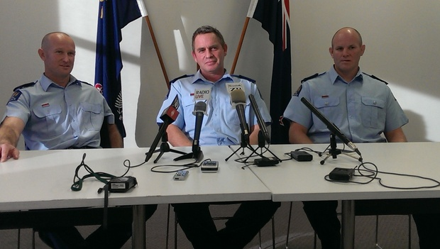 Constable Mike Kneebone, Senior Sergeant Mike Brooklands and Constable Shane Cowles received bravery awards.