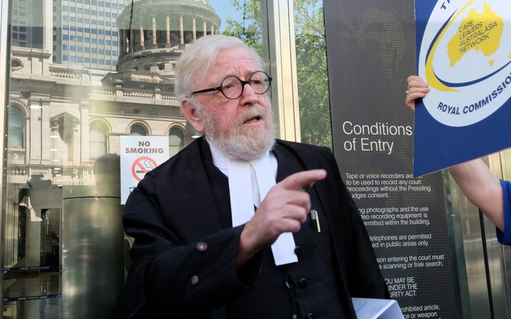 Robert Richter, lawyer of Cardinal George Pell, walks out of the County Court in Melbourne on February 27, 2019.
