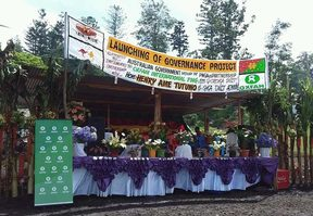 Launch of Australia-funded governance project, with Oxfam, in Papua New Guinea's Eastern Highlands.