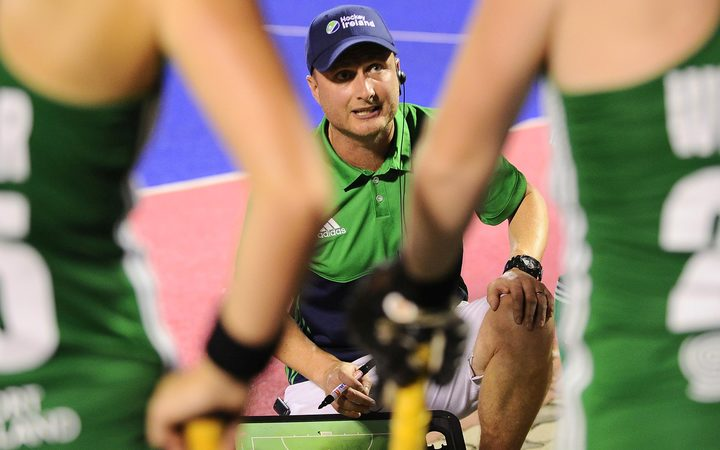 New women's Black Sticks coach Graham Shaw during his time in charge of the Ireland women's team.
