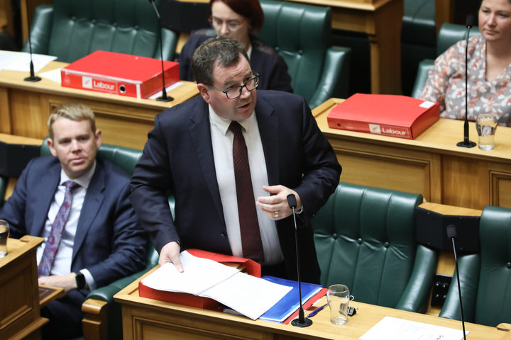 Minister of Finance Grant Robertson in the House