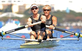 Hamish Bond and Eric Murray on their way to Olympic gold, Rio 2016.